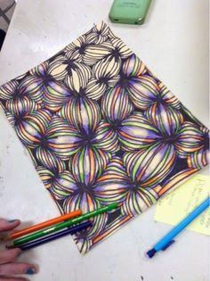 Op art Lesson! This is such a cool idea and would be awesome for the end of school or summer school too.