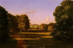The Gardens of the Van Rensselaer Manor House    Artist: Thomas Cole