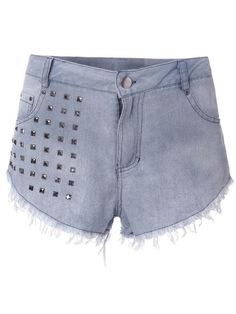 Sexy Sequins Embellished High Waist Jean Shorts - Gchoic.com