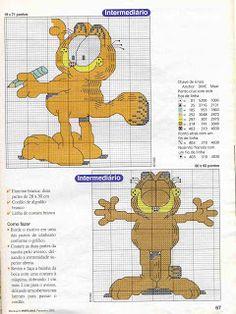 Gráficos ponto cruz da drica: Garfield