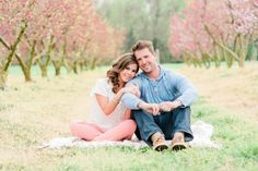 Engaged: Adam and Amy's South Carolina Peach Orchard Engagement Session. Fort Mill, SC