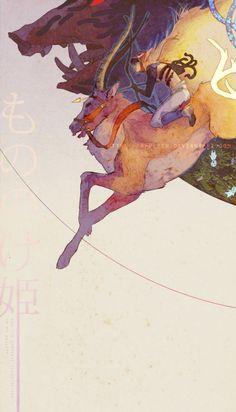 By Yaphleen http://yaphleen.deviantart.com&http://yaphleen.tumblr.com Last fanart Mononoke Hime ~ 3/3