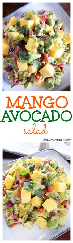 A filling lunch for two or a colorful side dish for your barbecue, this juicy Mango Avocado Salad will have everyone drooling for seconds!
