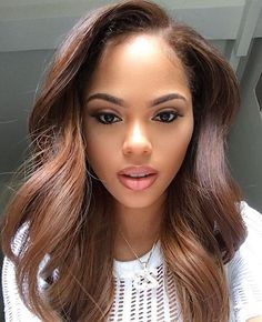 Best Hair Color for Dark Skin Photos) 2019 Mahogany Hair Color for Light Brown Skin Tone Hair Color For Brown Skin, Colors For Dark Skin, Brown Hair With Blonde Highlights, Hair Color For Black Hair, Cool Hair Color, Light Pink Hair, Light Brown Hair, Frontal Hairstyles, Cool Hairstyles