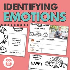Target identifying emotions with this leveled speech therapy activity. Works on feelings, body language, and making basic inferences based on scenarios. From Speechy Musings.