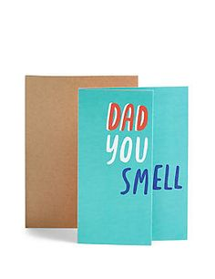 Dad You Smell Hidden Message Fold-Out Birthday Card