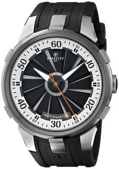 Perrelet Men's A1050/4 Turbine XL Analog Display Swiss Automatic Black Watch