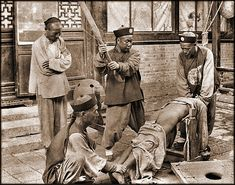 China. Chinese Punishment, Whipping A Lawbreaker, c1900 // Attribution Unknown