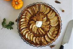 Apple Pumpkin Pie Tart Kid friendly and vegan