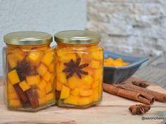 Compot de dovleac pentru iarnă – rețeta fără conservant Canning Pickles, Preserves, Carrots, Gem, Vegetables, Food, Sauces, Drinks, Canning