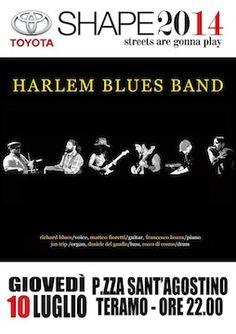 Teramo,Shape Music Fest ospita l'Harlem Blues Band