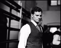 Jamie Dornan as Jan Kubis in a BTS still from Anthropoid…