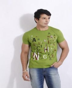 Armani T-Shirt in Green and font format