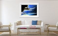 Abstract Photo. colourful Print. Blue by FineArtGalleryPrints