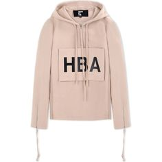 Hba  Hood By Air Sweatshirt ($435) ❤ liked on Polyvore featuring men's fashion, men's clothing, men's hoodies, men's sweatshirts, tops, hoodies, sweaters, jackets, shirts and beige