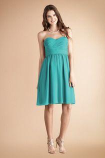 Sarah dress by Donna Morgan Bridesmaids #DonnaMorganBridesmaids #BlueGreen #Weddings
