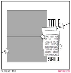 paper: pretty paper. true stories. {and scrapbooking classes with cupcakes.}: Sketch to Scrapbook Page :: Scrapbooking on the diagonal
