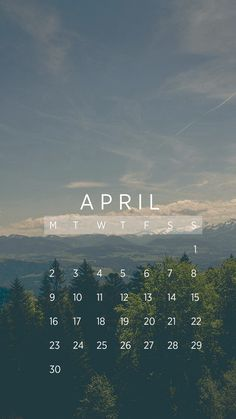April 2018 calendar iPhone wallpaper lockscreen calendario fondo de pantalla abril MADE BY xhorrocrux