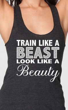train like a beast look like a beauty Womens Workout Top American Apparel Racerback Tank Top Gym Fitness Crossfit Running on Etsy, $18.95