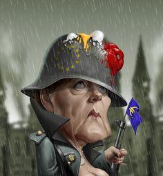 Angela Merkel By Fernando Buigues