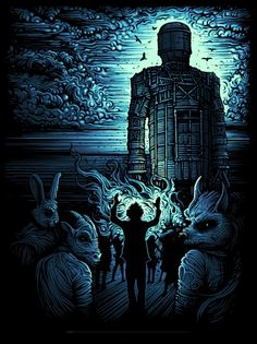 The Wicker Man by Dan Mumford (Blue Variant)