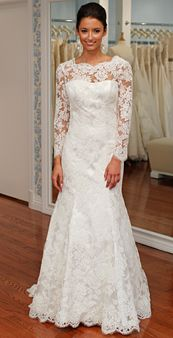 I like this for a winter wedding if it was slightly more ivory