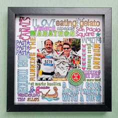 Highlight memories of a trip, destination, hobby, or other event in a gift that will make them think of the giver as well as the occasion: http://www.bhg.com/christmas/crafts/cute-craft-christmas-gifts/?socsrc=bhgpin121414memorysaverphotoframe&page=15