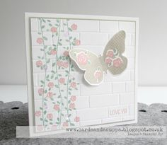 Using Stampin' Up's Floral Wings for my Mothers Day Card
