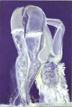'Velvet and Lace' - 1999 - by Marlene Dumas (South African, b. 1953) - Oil on canvas - 124.5x85.1cm.