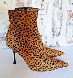 f015fca868a Steve Madden Womens Ankle Boots sz 8 High heels leopard print Bootie   StevenbySteveMadden  Booties