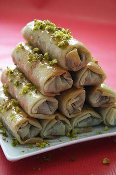 pistachios and almonds more baklava rolls glazed rolls chocolate rolls ...