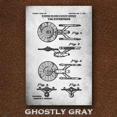 USS Enterprise Patent Print Star Trek Poster NCC-1701 | Etsy Star Trek Poster, Technical Artist, Jeep Gifts, Patent Drawing, Uss Enterprise, Crisp Image, Patent Prints, Wall Game, Unique Image