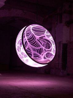 hanging illuminated chair
