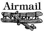 Vintage airmail rubber stamps