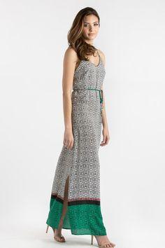 Cynthia Tribal Maxi Dress