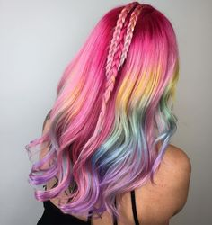 Lisa Frank hair is my newest obsession. The latest rainbow hair-color trend to take over Instagram brings my favorite childhood folder (I chose dolphin) to 2016 in a way that I completely support.