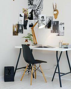 Shake My Blog | Get The Look : Un bureau en noir et blanc