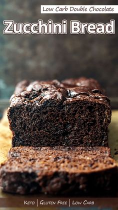 A tasty double chocolate zucchini bread thats low carb and gluten free. And its also super moist thanks to the addition of shredded zucchini. Low Carb Gluten Free Double Chocolate Zucchini Bread - You must try this recipe. Low Carb Desserts, Gluten Free Desserts, Gluten Free Recipes, Low Carb Recipes, Crab Recipes, Recipes With Coconut Flour Low Carb, Zucchini Desserts, Stevia Recipes, Recipies