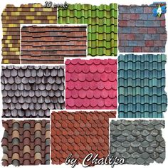Sims 4 CC's - The Best: Roof Recolors by Oldbox and Chalipo - All4Sims