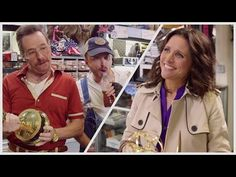 Bryan Cranston & Aaron Paul creep out Julia Louis-Dreyfus in hilarious sketch video!