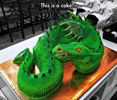 10 Awesome Dragon Cakes Photo - Cool Dragon Cake Design, Dragon Cake and Dragon Cake Designs Crazy Cakes, Fancy Cakes, Cute Cakes, Yummy Cakes, Cake Wrecks, Unique Cakes, Creative Cakes, Creative Food, Beautiful Cakes