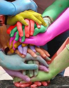 All colors can live in peace....