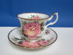 Vintage Teacup & Saucer Peach Rose Tea Cup Bone by Vanityfare, $24.00