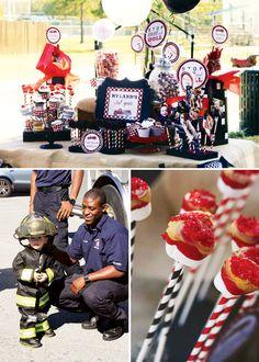 faveur 1 x Pompier SAM Anniversaire Traiter Boîte Cadeau Personnalisé