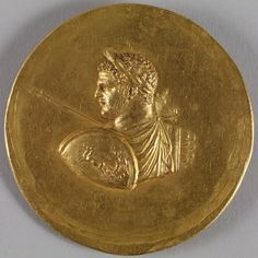 Medallion with Roman Emperor Caracalla ca. 215-243 (Imperial Roman). Medallions given to those loyal in the court and military.