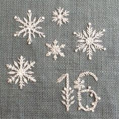 Snowflake stitches