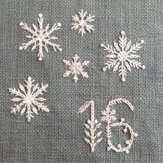 Snowflake stitches