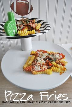 Looking for a unique snack for the big game? Try these delicious Pizza Fries made with Alexia's Smart Classic Crinkle Cut Fries.