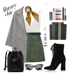 """"""" Library Chic """" by mairytaken ❤ liked on Polyvore featuring Zeynep Arçay, George J. Love, M&Co, MANGO, Gianvito Rossi, Accessorize, Mansur Gavriel, Mulberry, Maybelline and Chanel"""