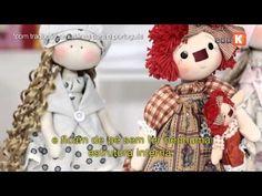 Como colocar cabelo em boneca de pano com lã feltrada boneca russa. - YouTube